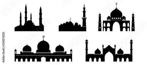 Photo Islamic Mosque buildings silhouettes collections
