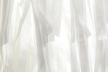 Full Frame Shot Of White Curtain