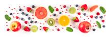Fresh Summer Fruit Panorama, A...