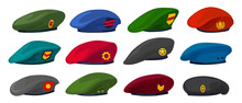 Military Beret Isolated Cartoon Set Icon. Vector Illustration Army Cap On White Background.Cartoon Set Icon Military Beret .