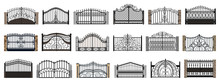 Fence Gate Isolated Cartoon Se...