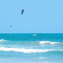 Kitesurfing Thailand Hua Hin On A Sunny Day