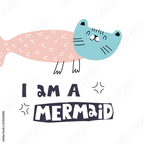 I am a mermaid Fototapet
