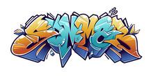 Summer Graffiti Lettering Vector