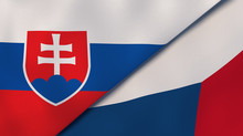 The Flags Of Slovakia And Czec...