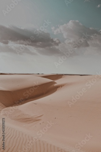 Obraz na płótnie Sand Dunes In Desert Against Sky