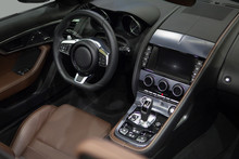 Luxury Car Interior. Driver's ...