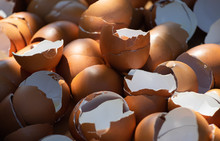 Full Frame Shot Of Broken Eggs