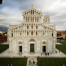 Pisa Cathedral Facade Against ...