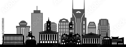 Foto NASHVILLE City Skyline Silhouette Cityscape Vector