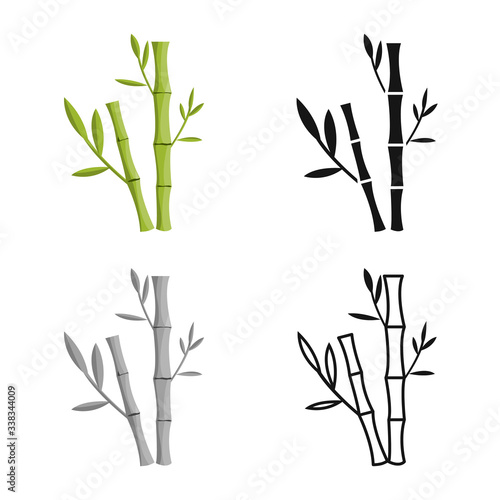 Vector design of bamboo and tree symbol Wallpaper Mural