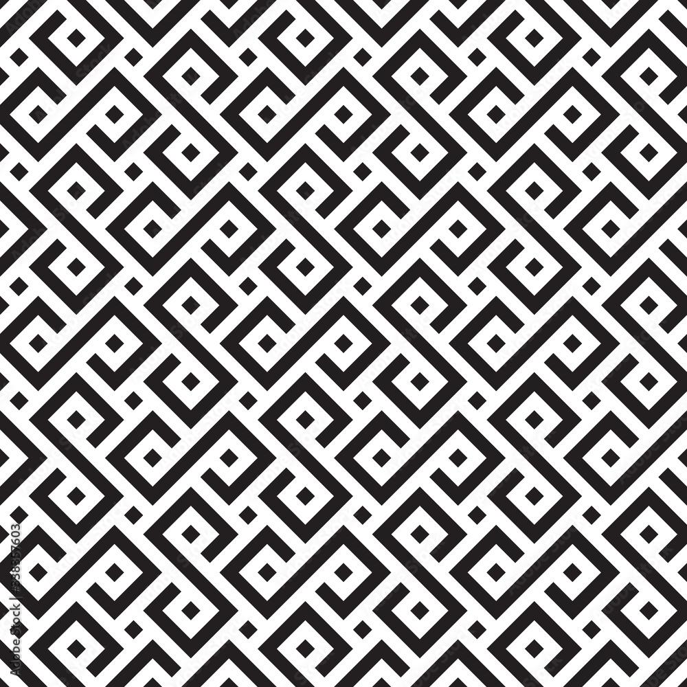 Fototapeta Seamless traditional tribal african pattern background