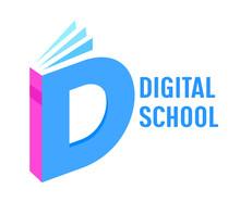 Digital School Isometric Banne...