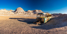 Panorama Of Abandoned Bus In T...