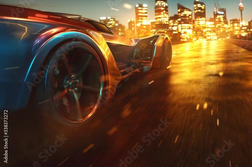 Obrazy motoryzacja  auto-fahrt-nachts-durch-die-stadt