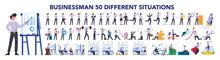 Businessman Character Set. Pos...