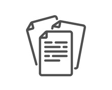 Documents Line Icon. Doc File ...