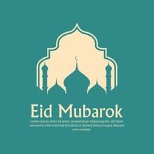Beautiful Eid Mubarak With Mos...