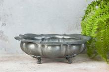 Antique Pewter Fruit Bowl