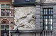 canvas print picture - Ghent, Flemish Region / Belgium - april 24 2012 : Neptune monumental gateway (1689) to the Old Fish Market in Ghent, Belgium