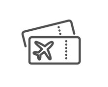 Boarding Pass Line Icon. Airpl...