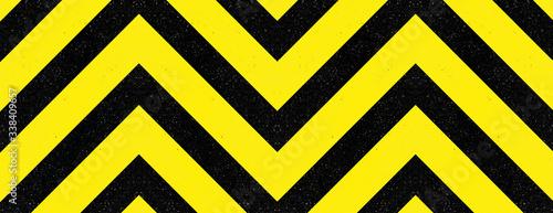 Photo Chevrons jaunes et noirs