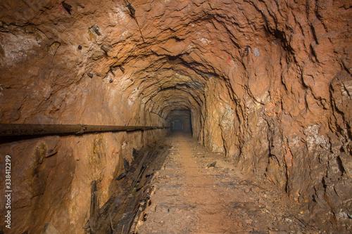 Underground abandoned bauxite ore mine tunnel Wallpaper Mural