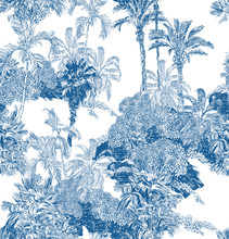 Seamless Pattern Blue And Whit...