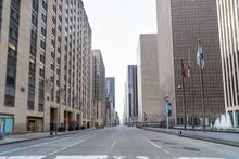 Street View Of An Empty 6th Av...