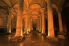 Basilica Cistern, Cisterna Basilica, Ancient Cisterns In Istanbul, Turkey
