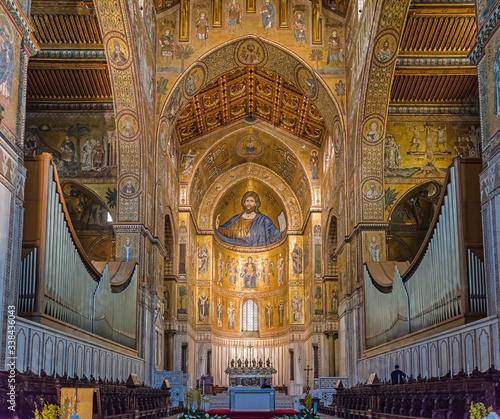 Photo Interior of Duomo di Monreale, Sicily; Italy
