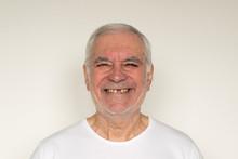 Old Man Senior Face Closeup Mi...