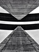 Directly Below Shot Of Bridge