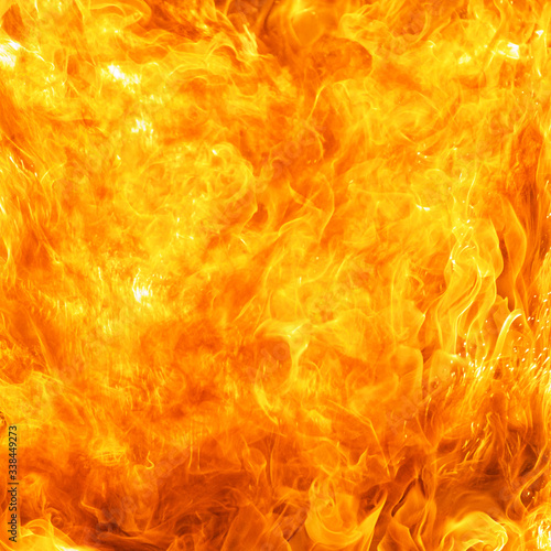 blaze fire flame conflagration texture background in square ratio Canvas Print