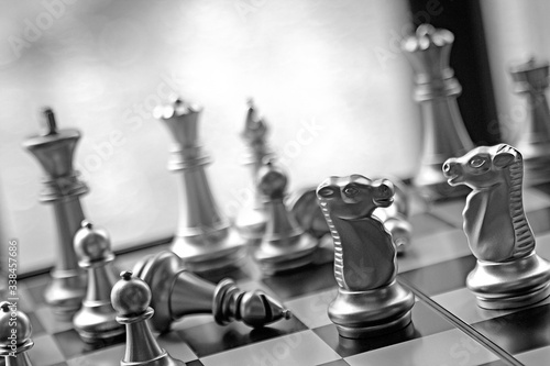 Foto Close-up Of Chess Pieces On Table