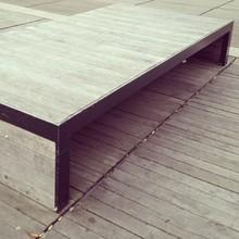 Bench On Wooden Boardwalk