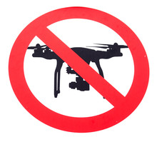 A Red Prohibited No Drone Flyi...