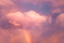 Sky Background. Rainbow From P...