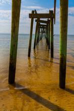 Broken Pier Damaged By Hurrica...