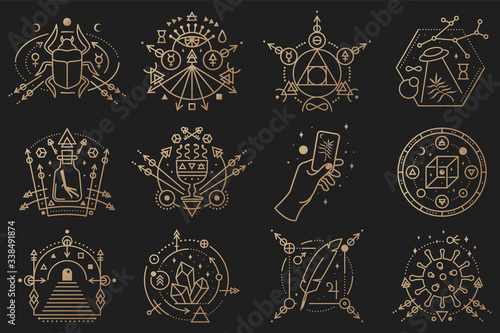 Esoteric symbols Wallpaper Mural