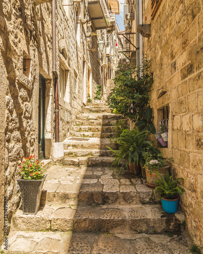 Fototapety, obrazy: Narrow Streets of Dubrovnik during the day