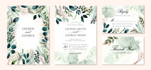 Wedding Invitation Set With Gr...