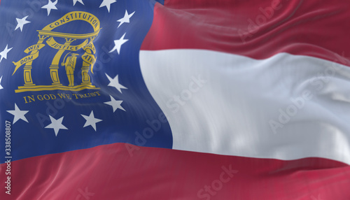 Flag of american state of Georgia, region of the United States Wallpaper Mural