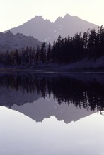 Broken Top Reflection, Three Sisters Wilderness, Cascade Mountains, Oregon