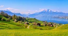 Lake Lucerne And Mount Pilatus...