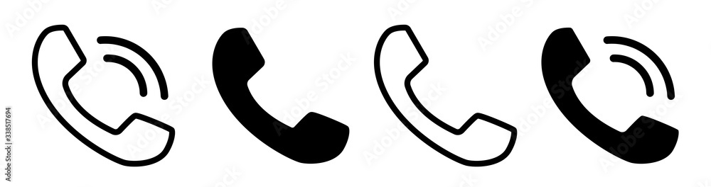 Fototapeta Contact us.Telephone, communication. icon in flat style. Vector illustration. Phone icon set. Telephone symbol. icon telephone call. Phone on white background.Vector illustration.