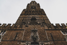 Looking Up At Belfry Of Bruges...