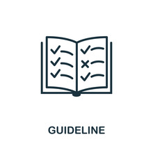 Guideline Icon. Simple Element...