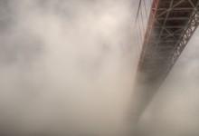 Golden Gate Bridge Covered Fog
