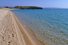 View Of The Pristine Trani Ammouda Beach In The Cassandra Peninsula